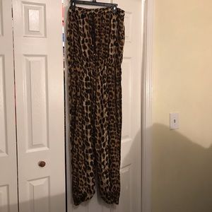 Cheetah print jump suit!!